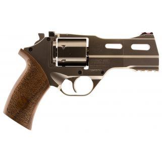 """Chiappa Rhino 50DS 9mm 5"""" Barrel W/ Fiber Optic Sights 6Rd Walnut Grip/Black 340245"""