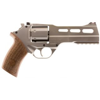 "Chiappa Rhino 50SAR 357 Magnum 5"" Barrel W/ Fiber Optic Sights 6Rd Walnut Grip/Nickel 340247"