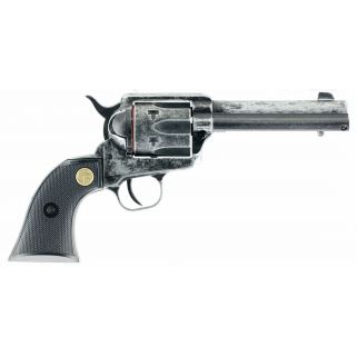 "Chiappa SSA 1873 Antique 22LR 4.75"" Barrel W/ Blade Front Sights 6Rd Black Grip/Antiqued 340089"