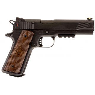 """Chiappa 1911-22 Custom 22LR 5"""" Barrel W/ Fiber Optic-Novak Sights 10+1 Walnut Grips/Black 401101"""