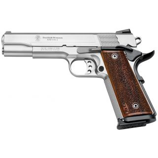"Smith & Wesson 1911 Performance Center Pro 9mm Luger 5"" Barrel 10+1 Wood Grip/Stainless 178017"