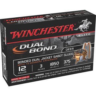 """Winchester Dual Bond 12 Gauge Sabot Shot 3"""" 5 Round Box SSDB123"""