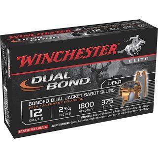 """Winchester Dual Bond 12 Gauge Sabot Shot 2.75"""" 5 Round Box SSDB12"""