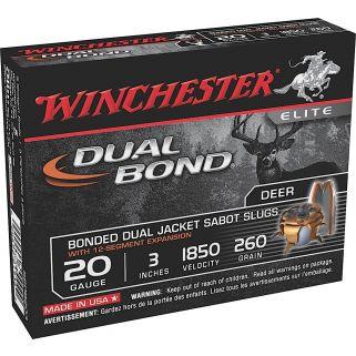 """Winchester Dual Bond 20 Gauge Sabot Shot 3"""" 5 Round Box SSDB203"""
