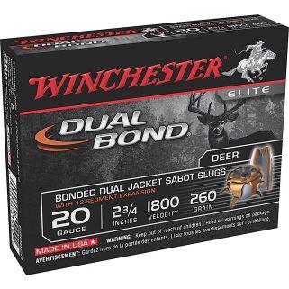 """Winchester Dual Bond 20 Gauge Sabot Shot 2.75"""" 5 Round Box SSDB20"""