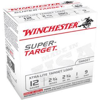 "Winchester Super Target 12 Gauge 9 Shot 2.75"" 25 Round Box TRGTL129"