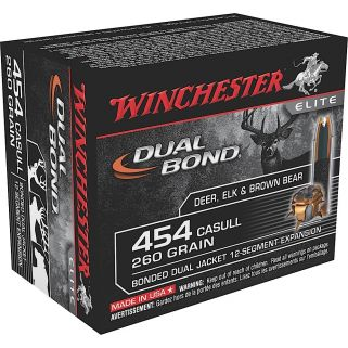 Winchester Elite Dual Bond 454 Casull 260 Grain Brass 20 Round Box S454DB