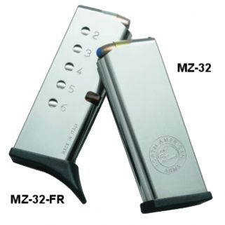 NAA Guardian 32ACP/25NAA Magazine 6Rd Stainless-Finger Extension MZ32FR