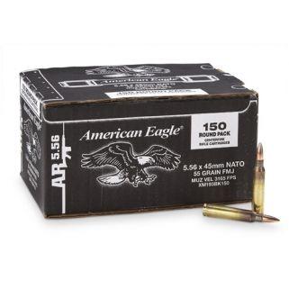 Federal American Eagle 5.56Nato 55 Grain FMJ XM193BK150 600 Round Case