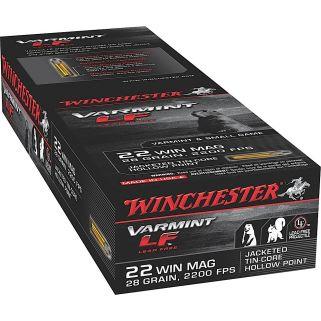 Winchester Varmint LF 22 Magnum 28 Grain JHP 50 Round Box X22MHLF