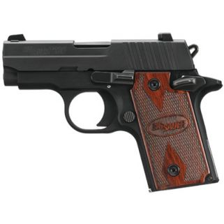 "Sig Sauer P238 Micro-Compact 380ACP 2.7"" Barrel W/ SigLite Night Sights 6+1 Rosewood Grip 238380RG"