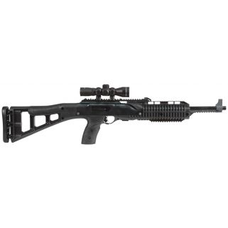"Hi-Point 9TS 9mm 16.5"" Barrel W/ Adjustable Sights-4X Scope 10+1 Skeleton Stock-Black 995TS4X"