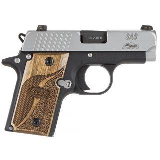 "Sig Sauer P238 Micro-Compact SAS 380ACP 2.7"" Barrel 6+1 Wood Grip/Stainless 238380SAS"
