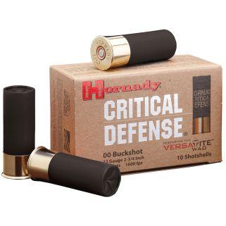 """Hornady Critical Defense 12 Gauge 00 Buck 2.75"""" 10 Round Box 86240"""
