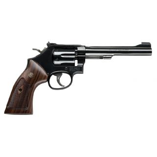 "Smith & Wesson 48 Classic 22 Winchester Magnum Rimfire 6"" Barrel 6Rd Wood Grip/Blued 150718"