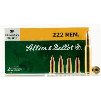 S&B SB222A 222 REM 50 SP 20/60