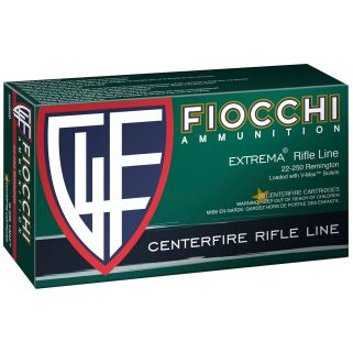 Fiocchi Extrema 22-250 Remington 55 Grain V-Max 20 Round Box 22250HVD