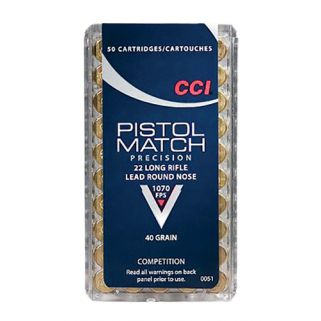CCI 0051 22 LR PISTOL MATCH 50/100