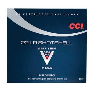 CCI 0039 22 LR SHOTSHELL #12 20/100