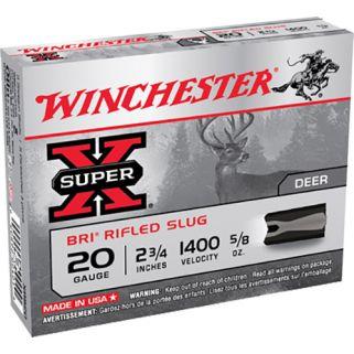 "Winchester Super-X Slugs 20 Gauge Slug Shot 2.75"" 5 Round Box XRS20"