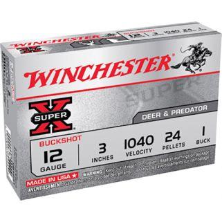 """Winchester Super-X 12 Gauge 1 Shot 3"""" 5 Round Box XB1231"""
