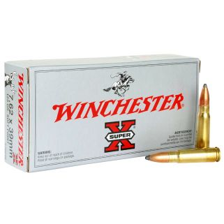 Winchester Super-X 7.62x39mm Russian 123 Grain 20 Round Box X76239