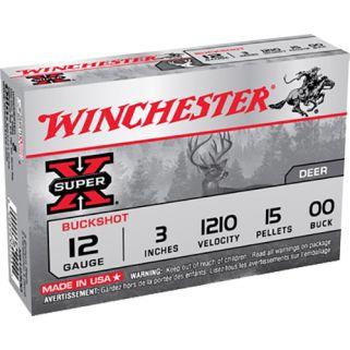 """Winchester Super-X 12 Gauge 00 Buck 3"""" 5 Round Box XB12300"""