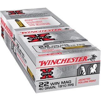 Winchester Super-X 22WMR 40 Grain JHP 50 Round Box X22MH