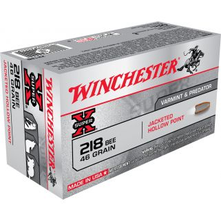 Winchester Super-X 218BEE 46 Grain JHP 50 Round Box X218B
