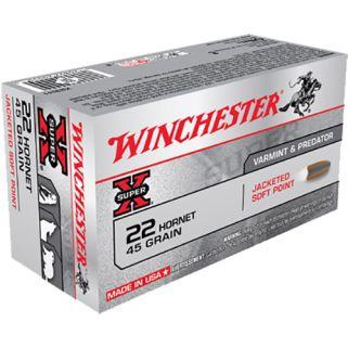 Winchester Super-X 22 Hornet 45 Grain JSP 50 Round Box X22H1