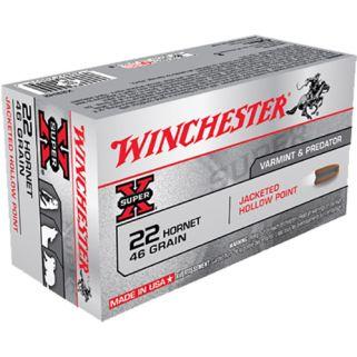 Winchester Super-X 22 Hornet 46 Grain JSP 50 Round Box X22H2