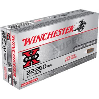 Winchester Super-X 22-250 Remington 55 Grain JSP 20 Round Box X222501