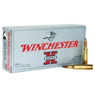 Winchester Super-X 222 Remington 50 Grain Brass 20 Round Box X222R