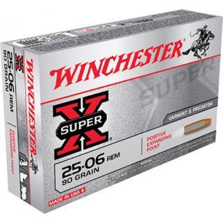 Winchester Super-X 25-06 Remington 90 Grain 20 Round Box X25061
