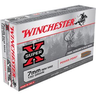 Winchester Super-X 7mm Remington Magnum 150 Grain Brass 20 Round Box X7MMR1
