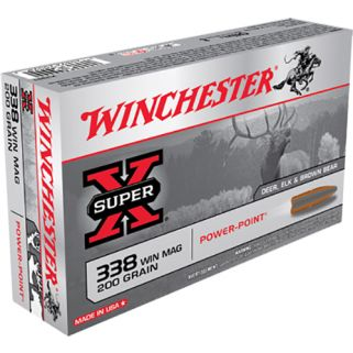 Winchester Super-X 338WIN Magnum 200 Grain 20 Round Box X3381