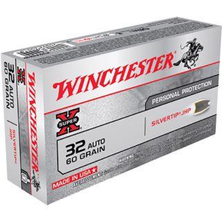Winchester Super-X 32ACP 60 Grain JHP 50 Round Box X32ASHP