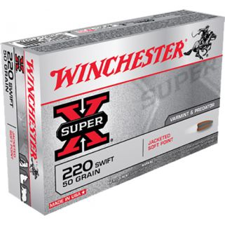 Winchester Super-X 220 Swift 50 Grain JSP 20 Round Box X220S