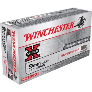 Winchester Super-X 9mm Luger 115 Grain 50 Round Box X9MMSHP