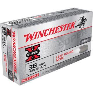 Winchester Super-X 38S&W 145 Grain 50 Round Box X38SWP
