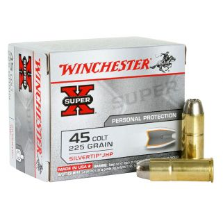 Winchester Super-X 45 Colt 225 Grain Brass 20 Round Box X45CSHP2
