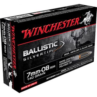 Winchester Supreme Ballistic Silvertip 7mm-08 Remington 140 Grain 20 Round Box SBST708