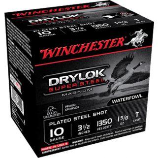 """Winchester Super-X Drylok Super Steel Magnum 10 Gauge T Shot 3.5"""" 25 Round Box XSC10T"""