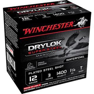 """Winchester Super-X Drylok Super Steel Magnum 12 Gauge T Shot 3"""" 25 Round Box XSC123T"""