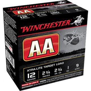 "Winchester AA Xtra-Lite Target 12 Gauge 9 Shot 2.75"" 25 Round Box AAL129"