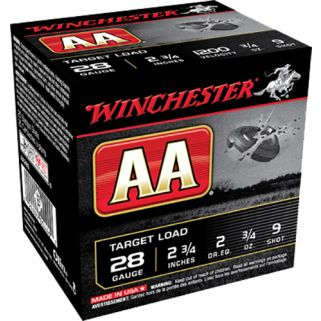 "Winchester AA Target Load 28 Gauge 9 Shot 2.75"" 25 Round Box AA289"