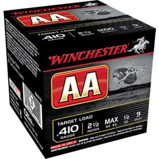 "Winchester AA Target Load 410 Gauge 9 Shot 2.5"" 25 Round Box AA419"
