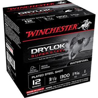"""Winchester Super-X Drylok Super Steel Magnum 12 Gauge 1 Shot 3.5"""" 25 Round Box XSM12L1"""