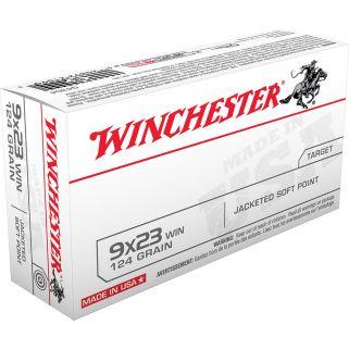Winchester USA 9x23WIN 124 Grain JSP 50 Round Box Q4304