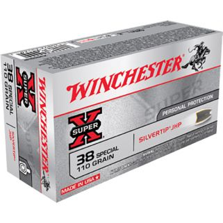Winchester 38 Special 110GR 50Rd Box X38S9HP